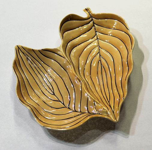 morpeth antique centre hunter valley carlton ware leaf dish pin stripe double twin two