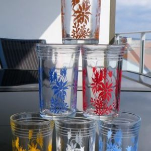 Flannel Flower Glasses – Set of Six