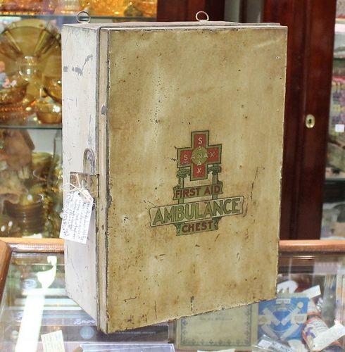 morpeth antique centre hunter valley ambulance first aid kit chest vintage 1940's