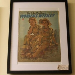 WWII Era Framed Woman's Weekly's