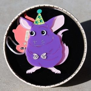 Erstwilder Brooch – Chaz the Chinchilla
