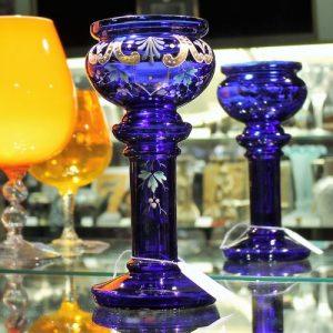 Victorian Cobalt Blue Glass