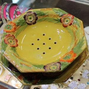 morpeth antique centre hunter valley carltonware cross dish stand yellow anemone fruit bowl 1934