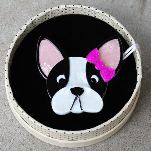 Erstwilder Brooch – Felicia the Frenchie (Bulldog)