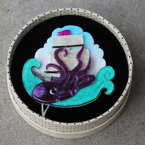 Erstwilder Brooch – From the Deep (Kraken)