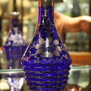 Cobalt Blue Glass Carafe/Vase