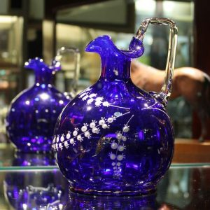 Cobalt Blue Glass Jug