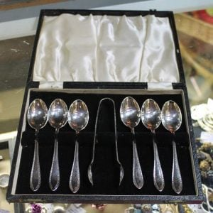 Set of Teaspoons & Sugar Nips