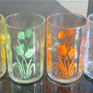 Swanky Swig Glass Set of Four – Tulips