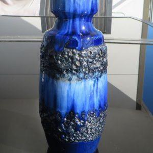 West German Pottery Vase – Schurich Blue/Black