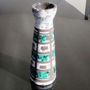 East German Pottery Vase – Green
