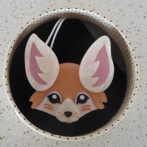 Erstwilder Brooch – Finnicky Fennec (Fox)
