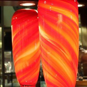 Art Glass Swirl Vase