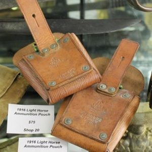 morpeth antique centre hunter valley WWI WWII Australian light horse leather pouch beersheba egypt gallipoli war militaria