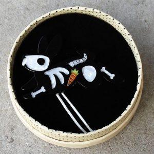 Erstwilder Brooch – Bunny Bones
