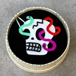 Erstwilder Brooch – Creepy Cranium (Skull)