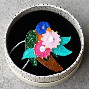 Erstwilder Brooch – Naughty Nectar Nibbler (Lorikeet)