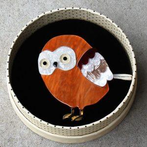 Erstwilder Brooch – Young Archimedes (Owl)