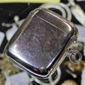 Silver Matchor Vesta Case