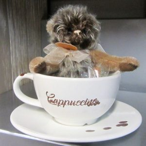 Cappuccino Bear with cup & saucer