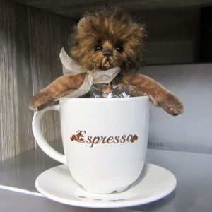 Espresso bear with cup & saucer