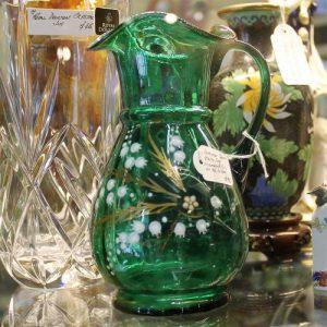 Victorian Green Glass Jug