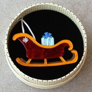 Erstwilder Brooch – Jingle Bells (Sleigh)
