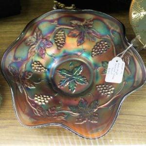 Carnival Glass Bowl – Amethyst