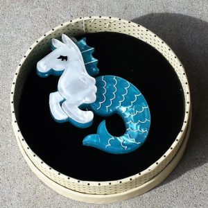 Erstwilder Brooch – Sea Biscuit (Hippocampus)