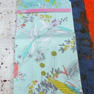 morpeth gift gallery hunter valley dawn chorus australian native budgerigar budgie parrot organic textile teatowel
