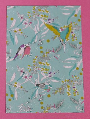 morpeth gift gallery hunter valley dawn chorus australian native budgerigar budgie parrot organic textile tea towel