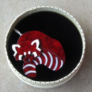 Erstwilder Brooch – Radbert the Red Panda