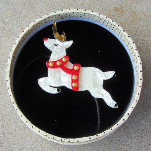 Erstwilder Brooch – Now, Prancer (Reindeer)
