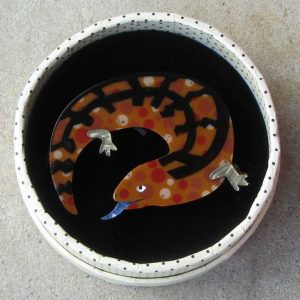 Erstwilder Brooch – Western Blue (Lizard)