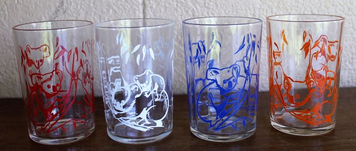 Swanky Swig Glass Set of Four – Koalas