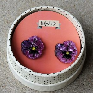 Erstwilder Earrings – On Sleeping Eyelids (Pansy)