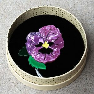 Erstwilder Brooch – On Sleeping Eyelids (Pansy)