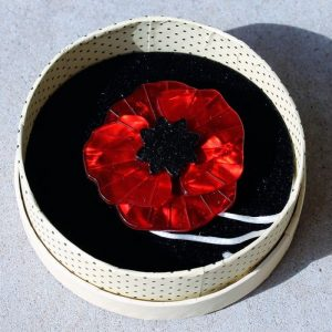 Erstwilder Brooch – Poppy Field (Red)
