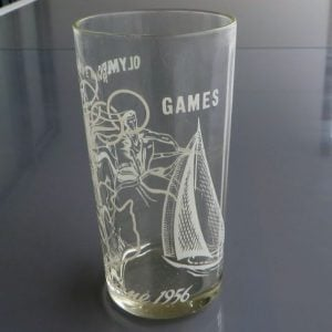 Melbourne Olympics 1954 Glass – Yachting & Rowing
