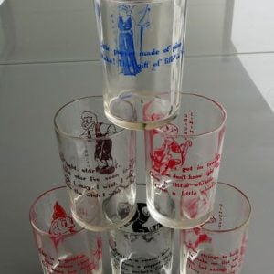 Disney 1940's Pinocchio Set of Six Glasses