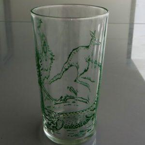 Swanky Swig Glass featuring Crocodile, Emu & Kangaroo 12cm