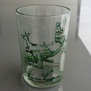 Swanky Swig Glass featuring Emu, Kangaroo, Crocodile 9cm