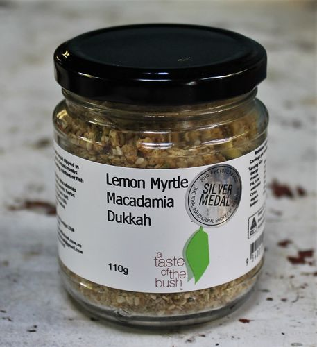morpeth gourmet foods hunter valley gift taste of the bush lemon myrtle macadamia dukkah nut seed spice mix rub coating