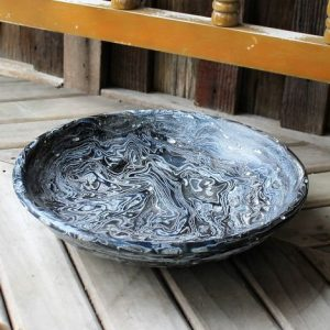 Denim Jeans & Resin Bowl