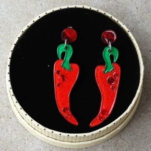 Erstwilder Earrings – Cosas Picante (Chilli)