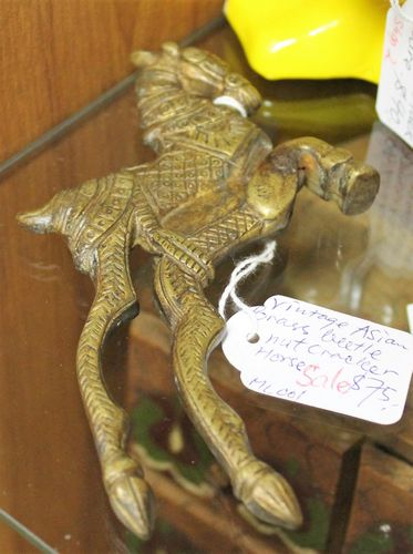 morpeth antique centre hunter valley northumberland antiques brass horse chinese nut cracker beetle nut asian vintage