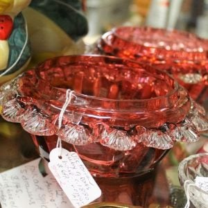 Cranberry Glass Bowl