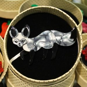 morpeth antique centre hunter valley erstwilder brooch earrings necklace bat earred bestie fox pin up retro grey collectable