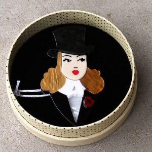 Erstwilder Brooch – Lady Astaire (Ginger)