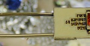 Enamelled Brass Pin
